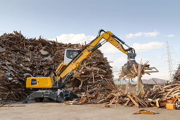 Liebherr material-handling crane