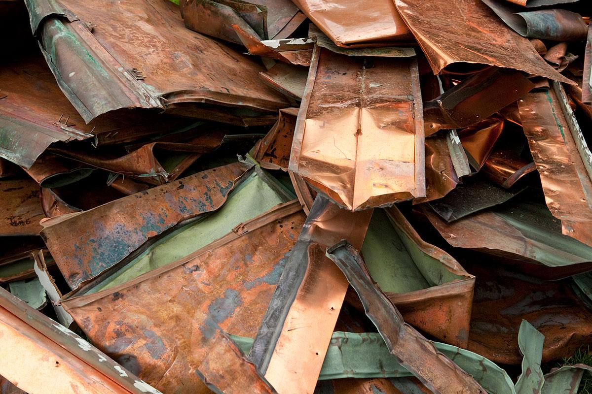 Scrap copper is a high-value item.